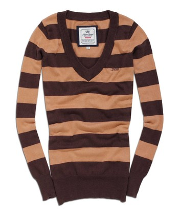 Bracken Stripe V-Neck Sweater