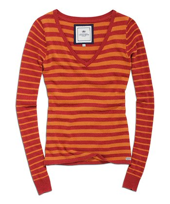 Dark Tomato Stripe Sweater