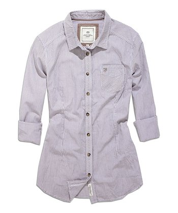 Stone Stripe Button-Up