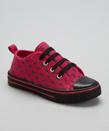Pink & Black Bows Slip-On Sneaker