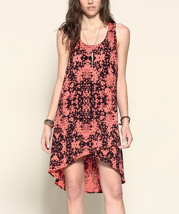 Calypso Coral Rogue Hi-Low Dress