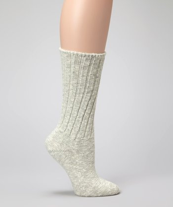 Light Gray Merino Wool-Blend Comfort Socks - Women & Men