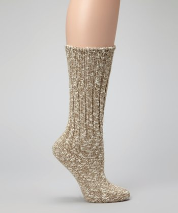 Light Beige Comfort Socks - Men