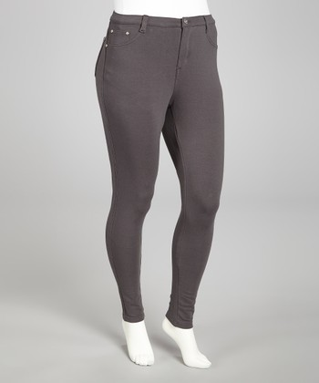Gray Skinny Pants - Plus