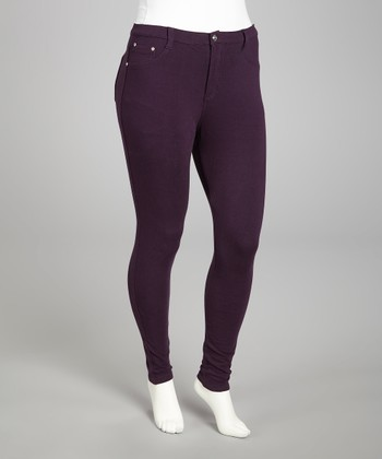 Plum Skinny Pants - Plus