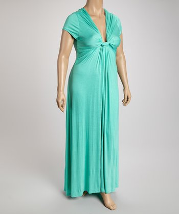 Jade V-Neck Maxi Dress - Plus