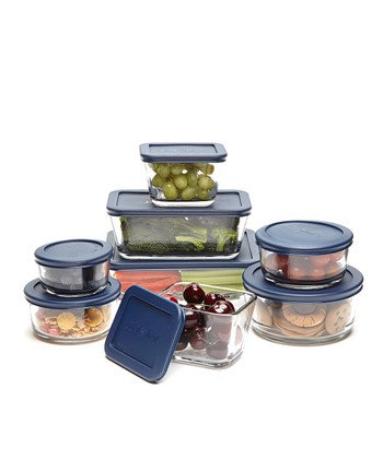 Blue Eight-Piece Kitchen Storage Set