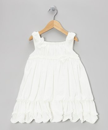 White Millie Dress - Toddler & Girls