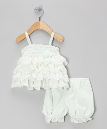 White Lace Dress & Bloomers - Infant