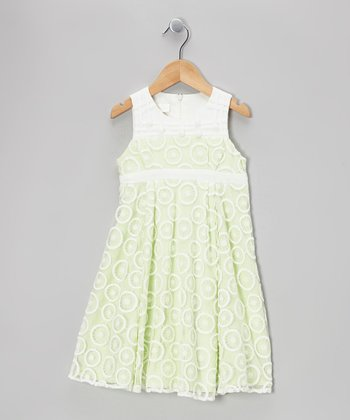 Lime Malibu Dress - Girls
