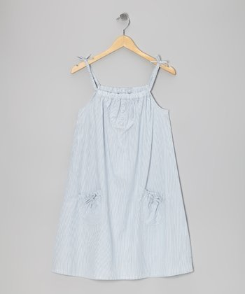 Light Blue Maritime Dress - Toddler & Girls