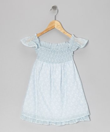 Light Blue Smocked Dress - Infant, Toddler & Girls