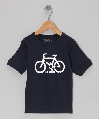 Navy Bicycle Tee - Infant, Toddler & Kids