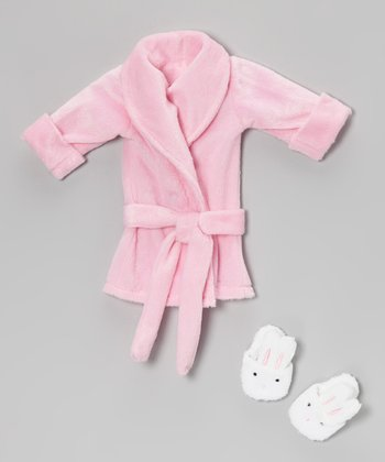 Pink Doll Bathrobe & Slippers