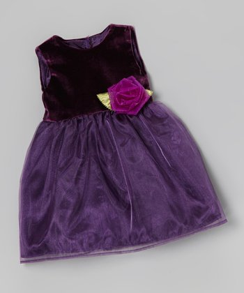 Purple Rose Doll Dress