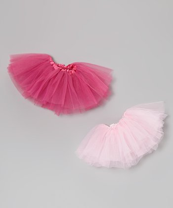 Pink & Hot Pink Doll Tutu Set