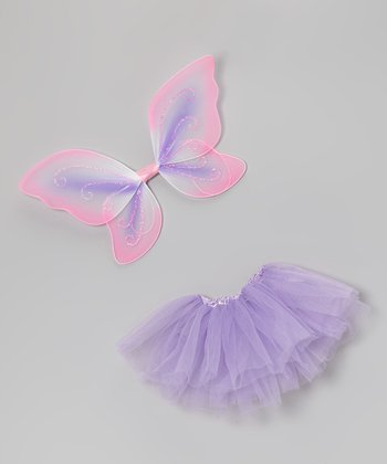 Lavender Doll Tutu & Wings