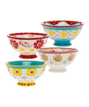 Flower Power 6'' Bowl Set