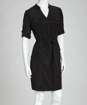 Black Shirt Dress