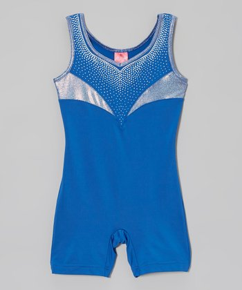 Blue Rocket Sparkle Biketard - Girls