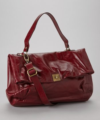 Burgundy Ellis Satchel