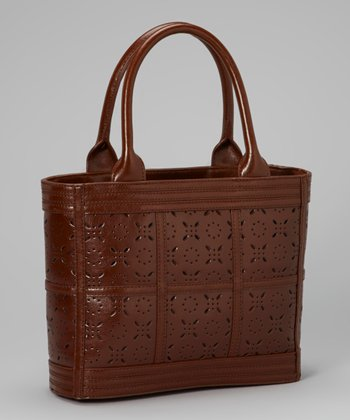 Mocha Perforated Tote
