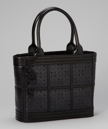 Black Perforated Tote