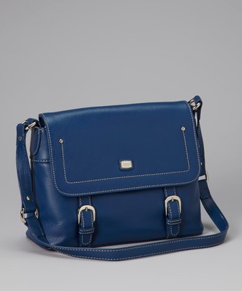 Blue Flap Shoulder Bag
