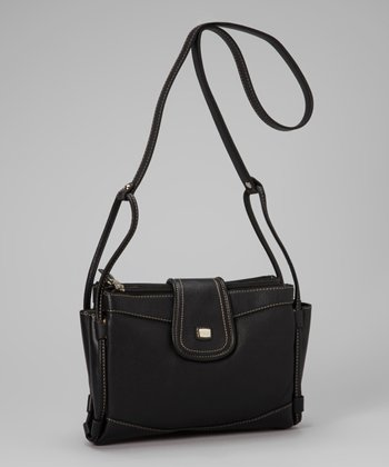 Black Organizer Crossbody Bag