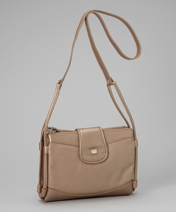 Metallic Sand Organizer Crossbody Bag