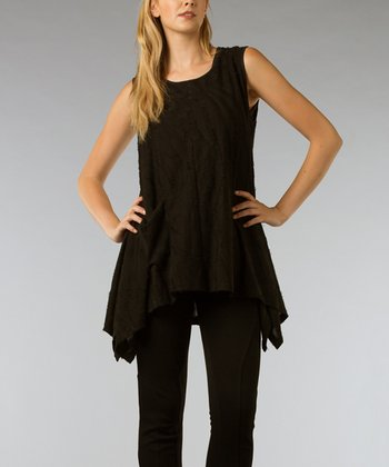 Black Sidetail Tunic