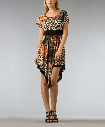 Black Safari Handkerchief Dress