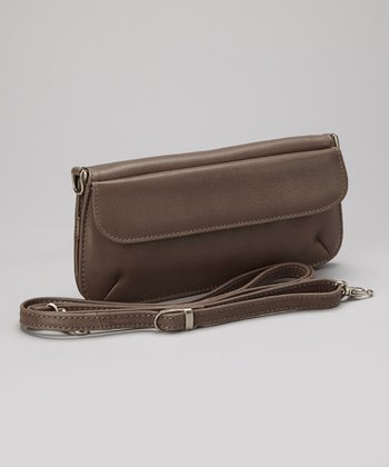 Charcoal Slim Crossbody Bag