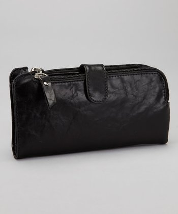 Black Double Zip Wallet
