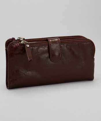 Brown Double Zip Wallet