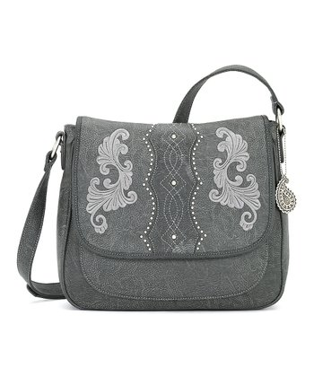 Pewter Messenger Bag
