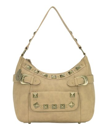 Honey Wheat Pyramid Stud Hobo