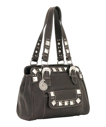 Dark Chocolate Pyramid Stud Tote
