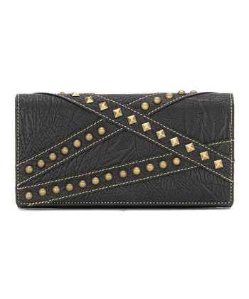 Black Crisscross Wallet