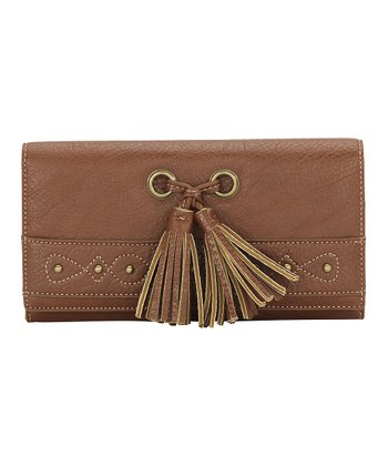 Saddle Tan Tassel Wallet