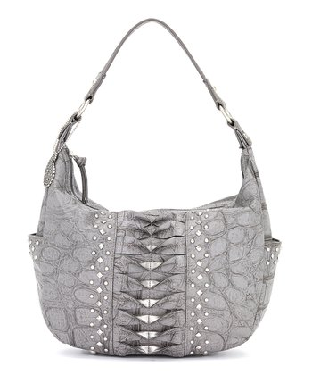 Slate Crocodile Hobo