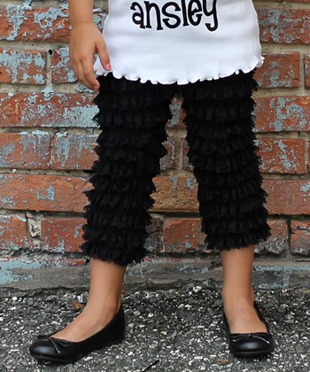 Black Lace Ruffle Pants - Infant, Toddler & Girls