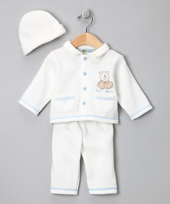 Ecru 'Bear Bear' Sweater Set