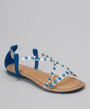 Blue Crisscross Bear Sandal