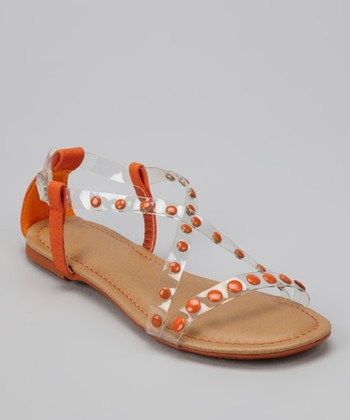 Orange Crisscross Bear Sandal