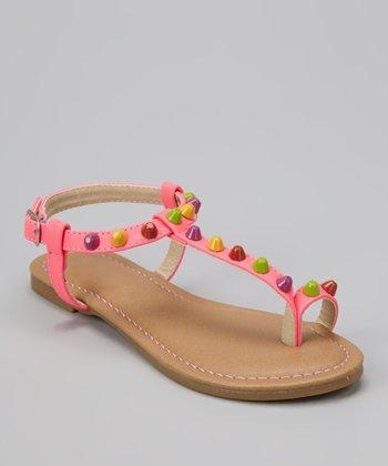 Fuchsia Bear Sandal