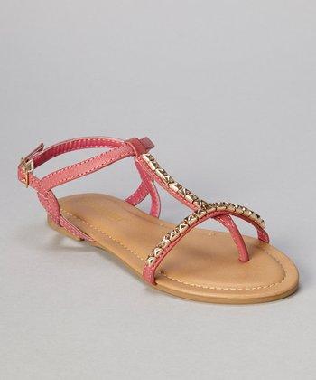 Fuchsia Stud Bear Sandal