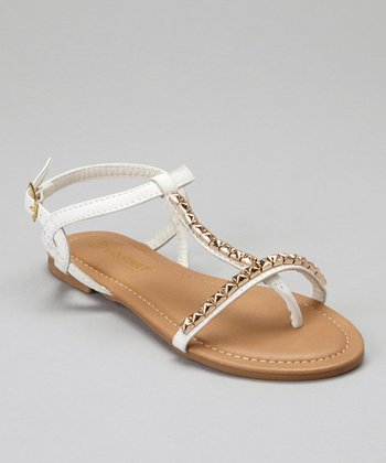 White Stud Bear Sandal