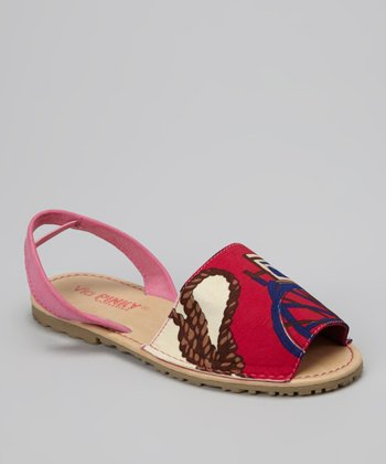 Fuchsia Rope Earth Slingback