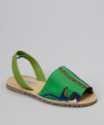 Green Country Earth Slingback